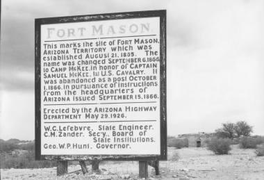Fort Mason Sign at Calabazas - 1926