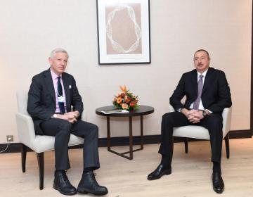 Prezident İlham Əliyev Davosda bir sıra görüşlər keçirib – YENİLƏNİB