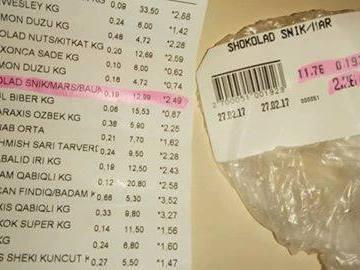"""Deputatın marketində növbəti fırıldaq: """"Favorit"""" müştərini belə aldatdı – Foto/Faktlar"""