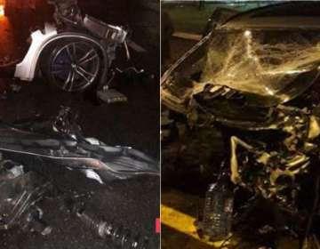 Bakıda restoran sahibinin gecə yarışları: Avtomobil parçalandı – VİDEO