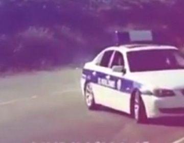 """Yol polisi avtomobili ilə """"avtoş""""luq etdilər – VİDEO"""