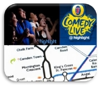 Enjoy a fun night out at the Camden Highlight comedy club with Azam Marketing
