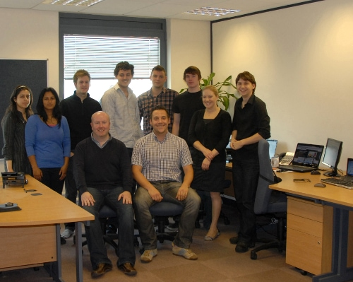 The Monetise CPA affiliate network team. Dave Bird, the MD, is sitting at the front wearing a black jumper