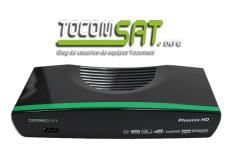 Atualização Tocomsat Phoenix hd desbloqueio canal codificado - v.1.048 - 2017