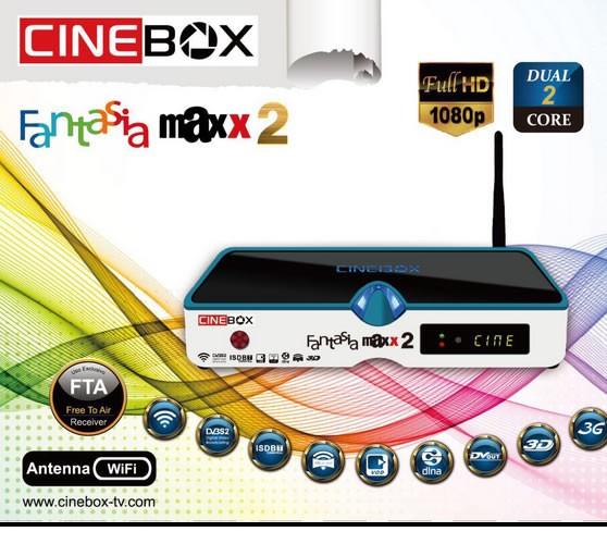 ATUALIZAÇÃO CINEBOX FANTASIA MAXX 2 - 21/12/2017