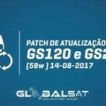 ATUALIZAÇÃO PACTH 58W GLOBALSAT GS 120 E GS240 - 14/08/2017