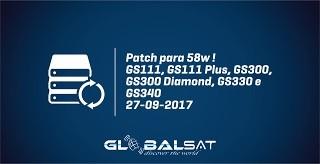 ATIVADOR PATCH GLOBALSAT SKS 58W PARA TODOS OS MODELOS - 27/09/2017