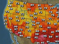 HD Decor Images » Weather channel us temperature map dafi1637 Us Temperature Map Weather Channel