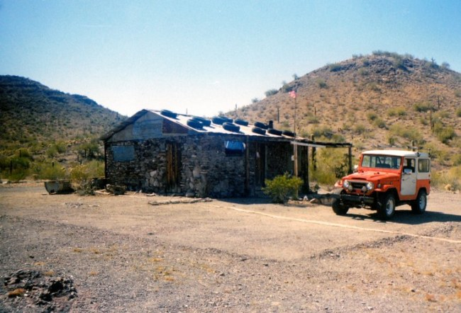 Historical pic of the cabin with FJ40 Land cruiser