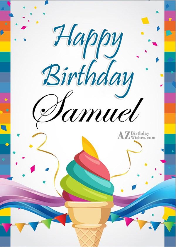 Happy Birthday Samuel