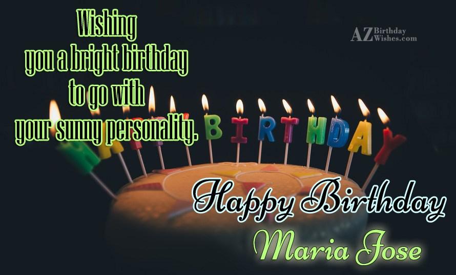 Happy Birthday Maria Jose