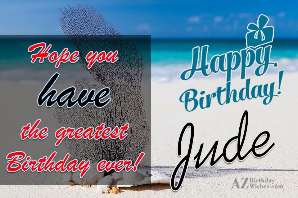 Happy Birthday Jude