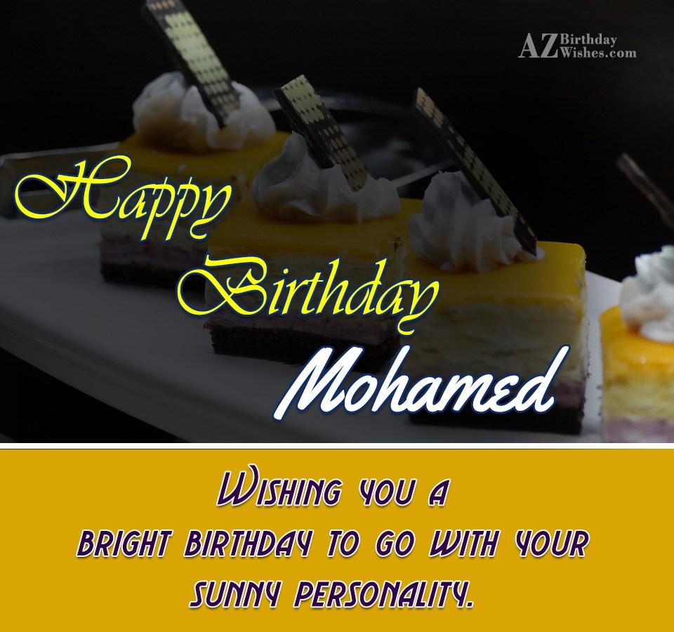 Happy Birthday Mohamed