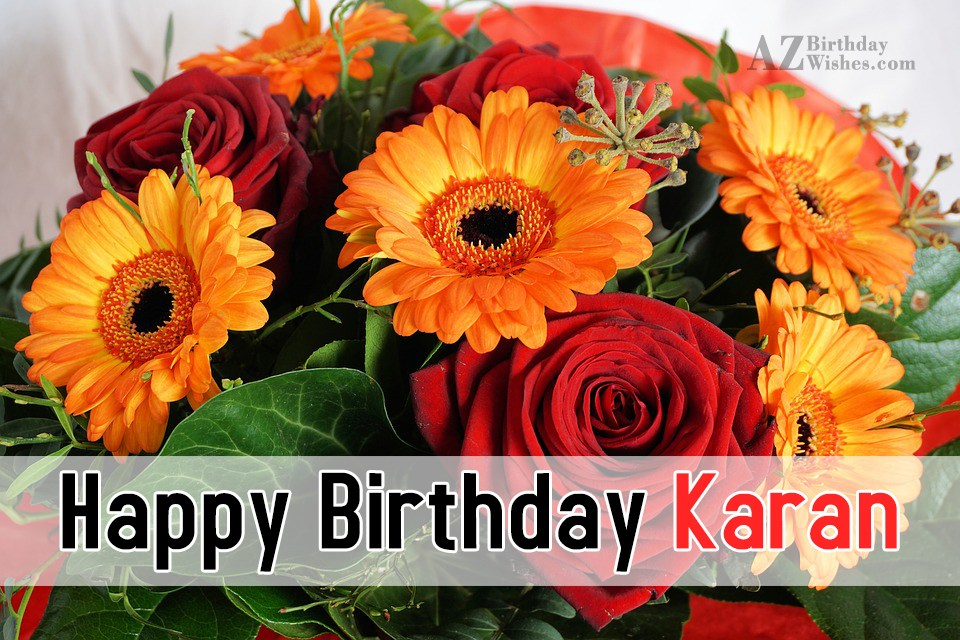 Happy Birthday Karan