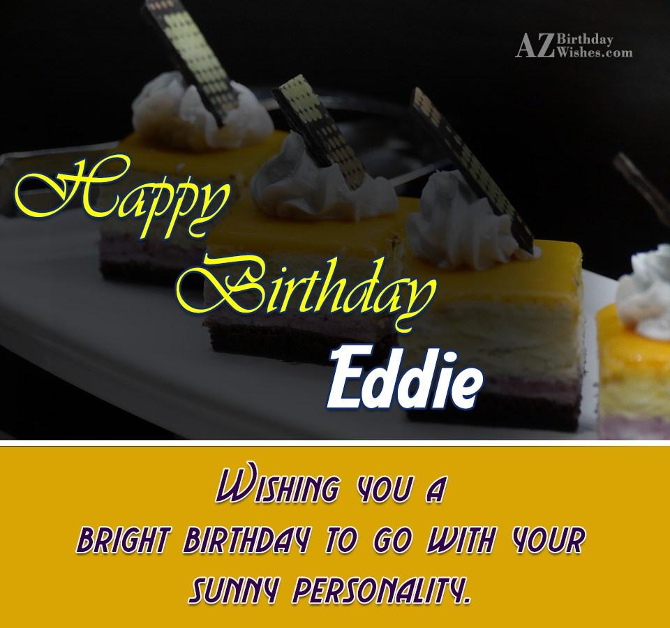 Happy Birthday Eddie