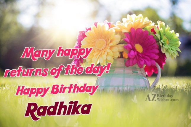 Happy Birthday Radhika