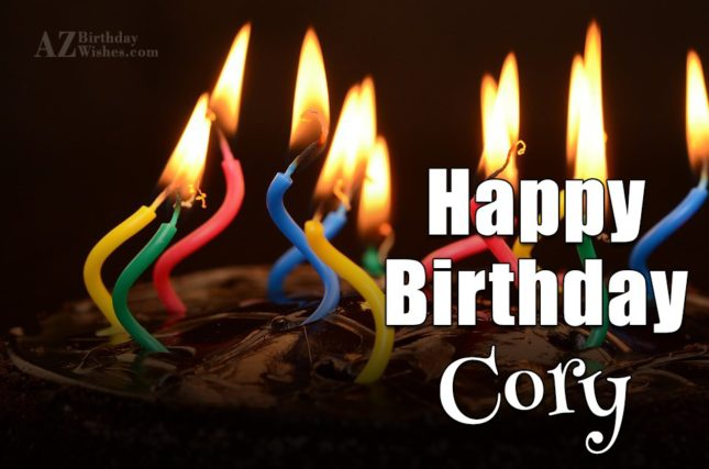 Happy Birthday Cory