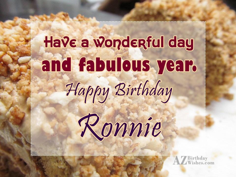 Happy Birthday Ronnie