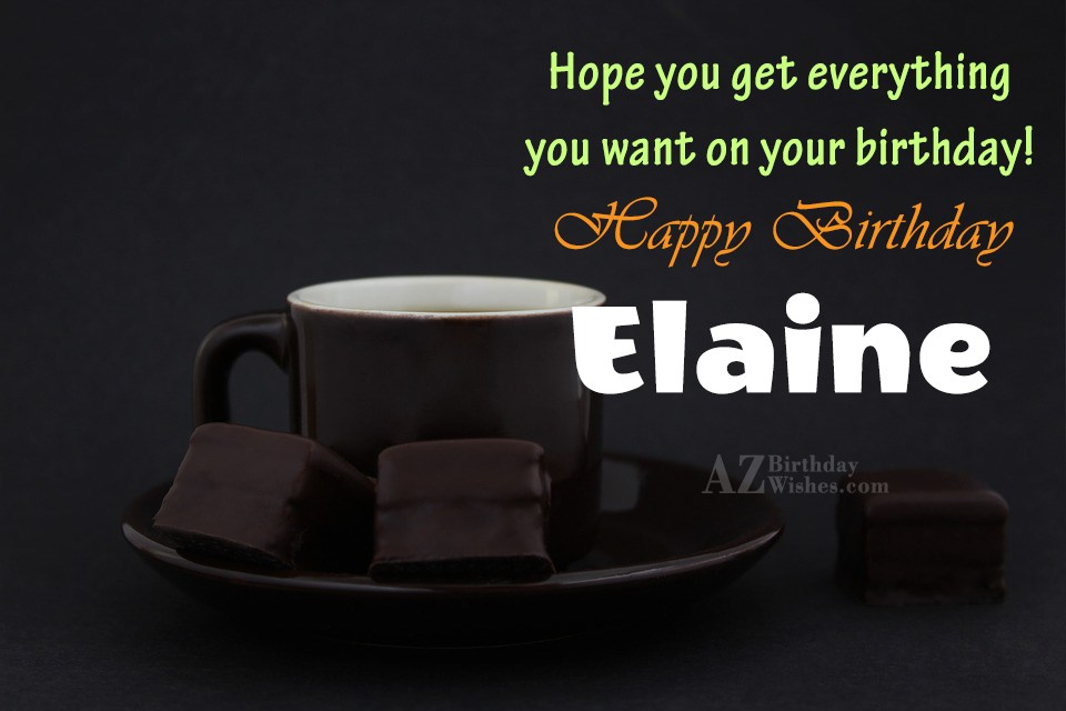 Happy Birthday Elaine