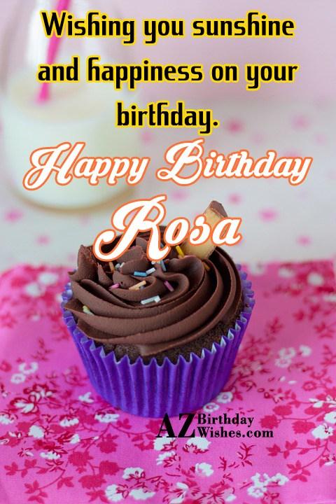 Happy Birthday Rosa