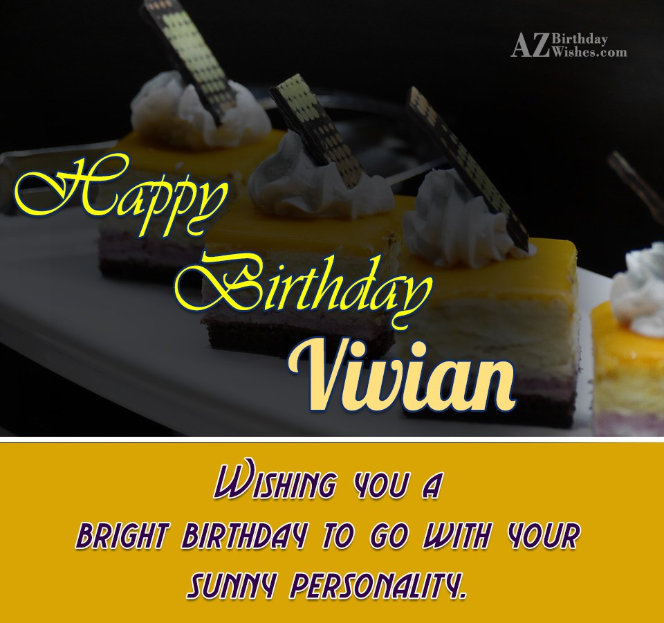 Happy Birthday Vivian