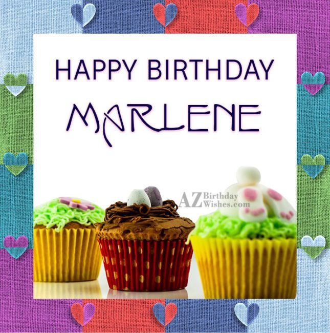 Happy Birthday Marlene