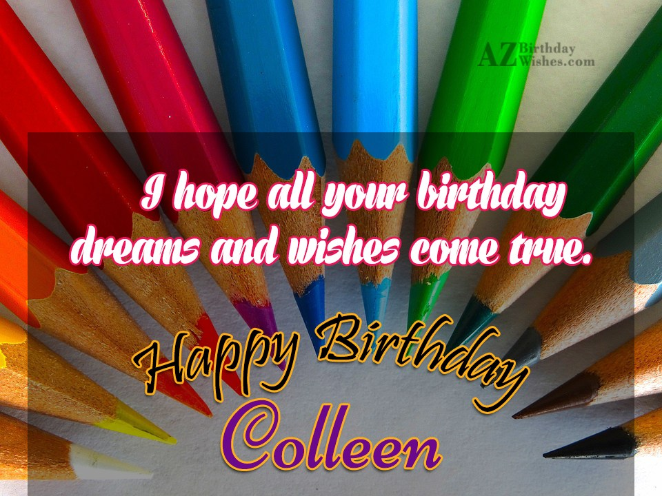 Happy Birthday Colleen