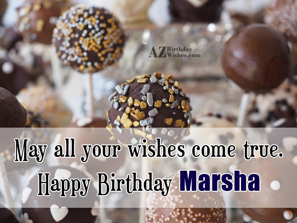 Happy Birthday Marsha