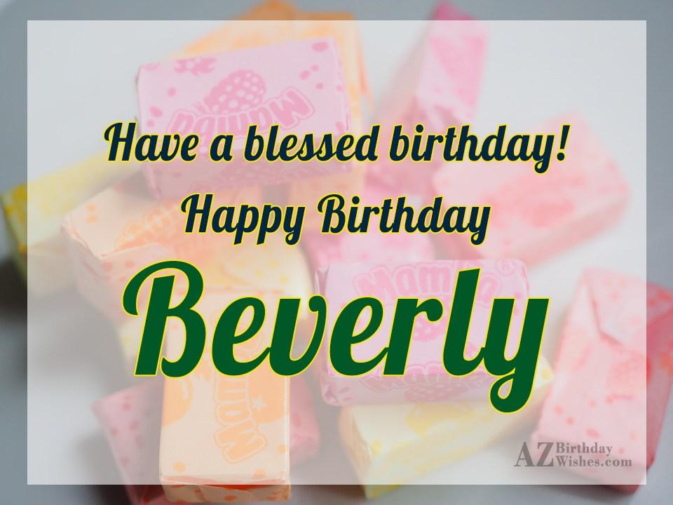 Happy Birthday Beverly