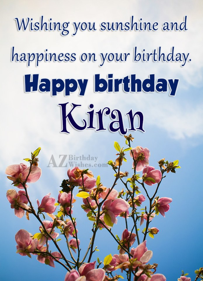 Happy Birthday Kiran