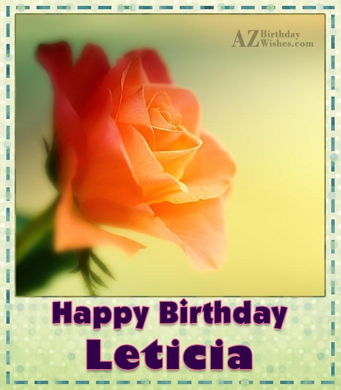 Happy Birthday Leticia
