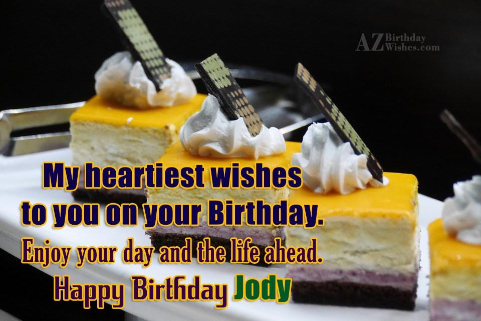 Happy Birthday Jody