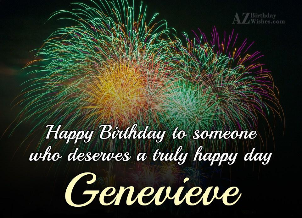 Happy Birthday Genevieve