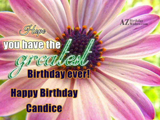 Happy Birthday Candice