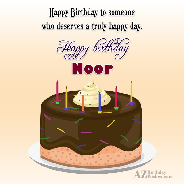 Happy Birthday Noor