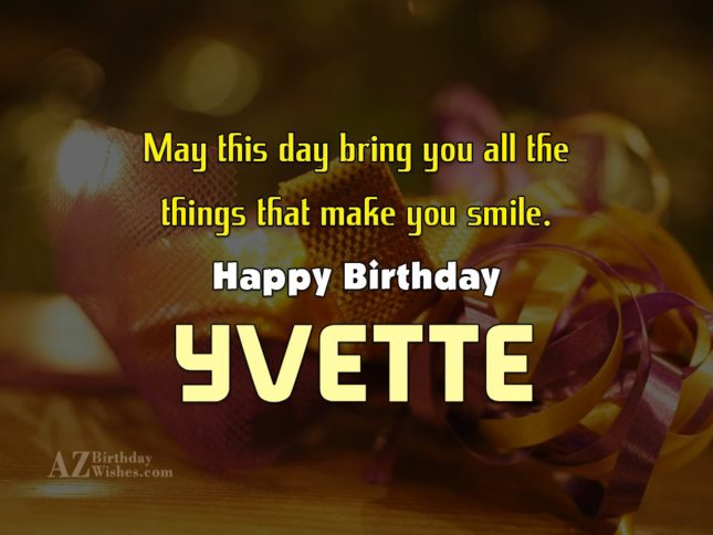 Happy Birthday Yvette
