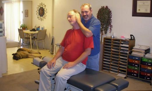 Dr. Altman treating neck pain