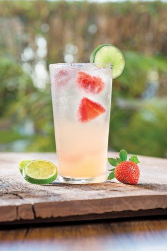 Fresh Strawberry Mango Cooler