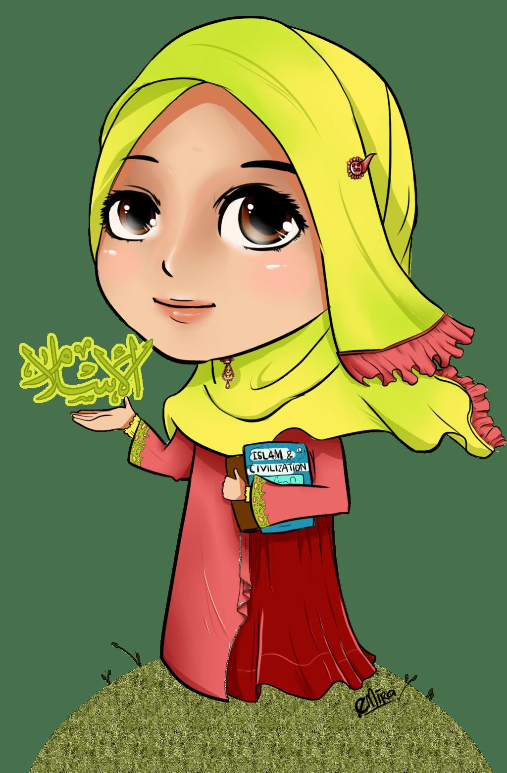 Gambar Gambar Kartun Hijab Menangis Baju Gamis Syari Muslimah