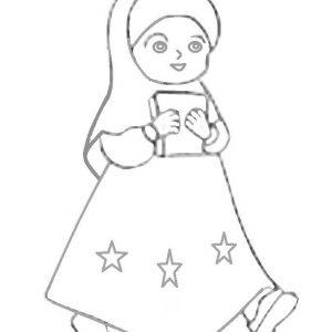 Gambar Gambar Kartun Lelaki Gambar Ana Muslim Hitam Putih Sketch