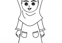Mewarna Gambar Kartun Anak Muslim Sedang Solat Azhan Co Download