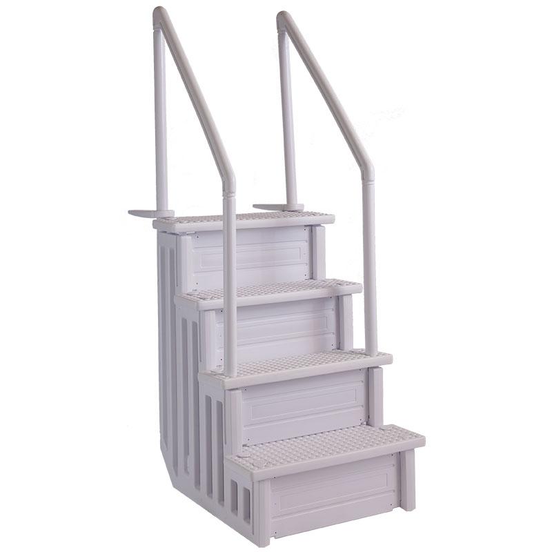 escalier pour piscine ajustable avec lest inclus