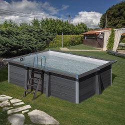 piscine bois composite avant garde gre 4 66 x 3 26 x h1 24m