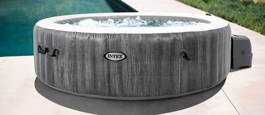 spa intex pure spa baltik bulles led 6 places luxe