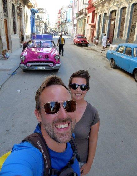 Wij met de Chéauto. Havanna