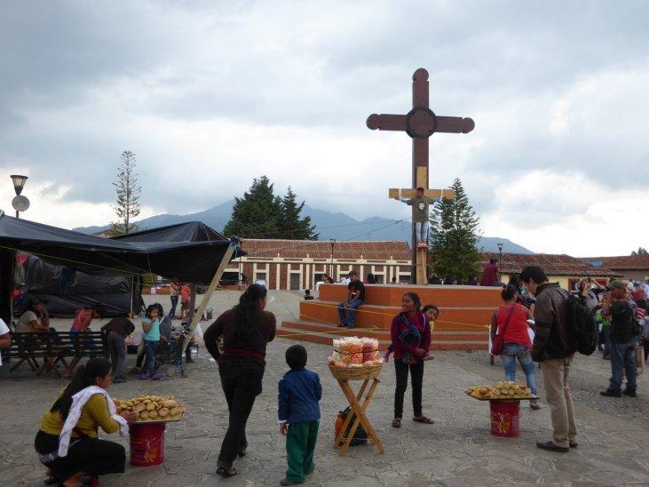 Deze G'sus neemt zijn naam wel heel letterlijk. Ché is er ook weer :=) San Cristóbal de las Casas