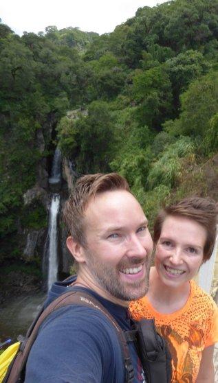 Hep'ie us bij een waterval die het doet!!! Xico