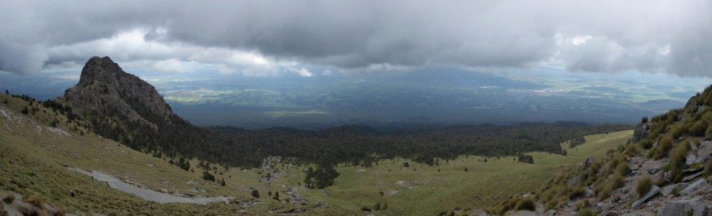 Mooi uitzicht net voordat de wolken ons in haalden. La Malinche