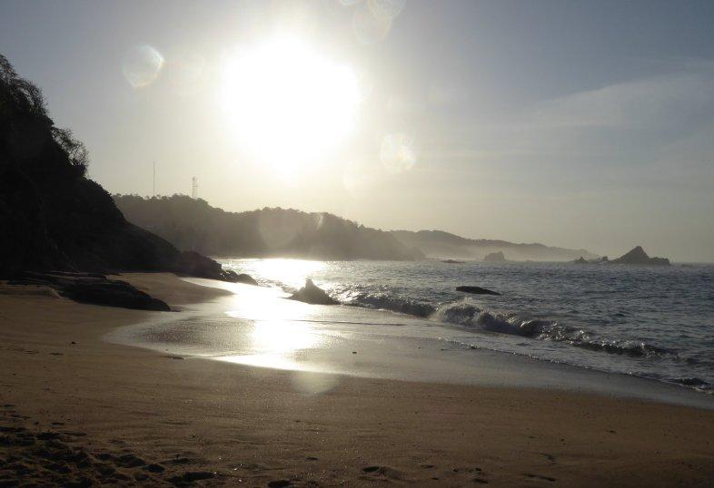 Het strand van Mazunte.