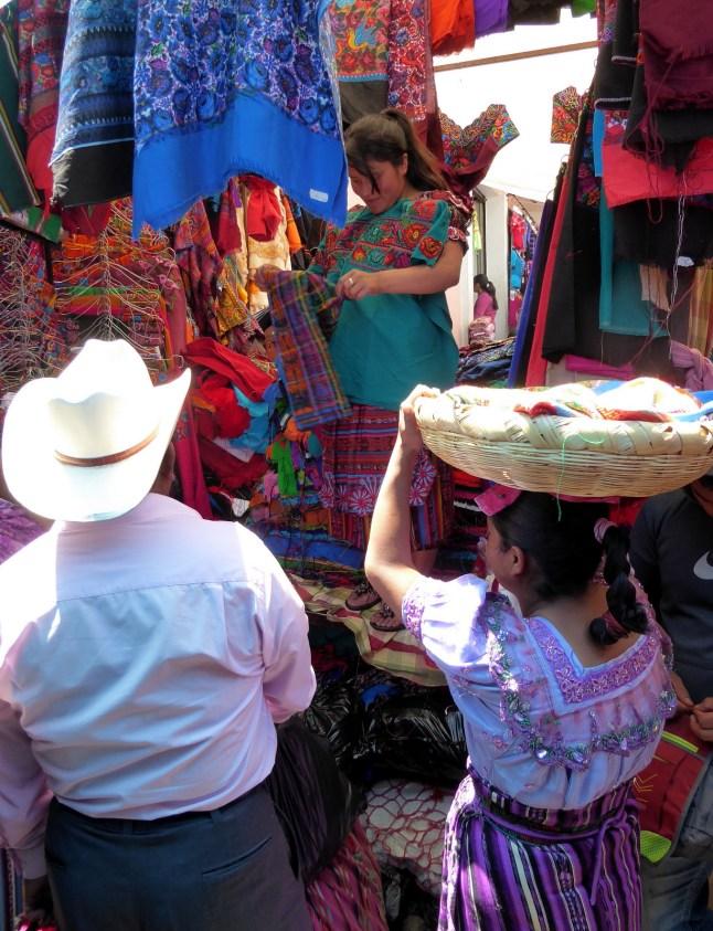 Typische markt. San Francisco el Alto